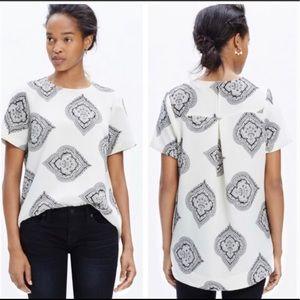 Madewell Tailored Tee in Estate Paisley